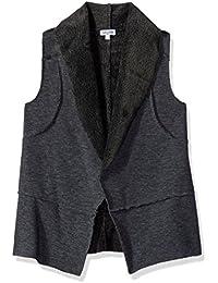 Splendid Little Girls' Raw Edge Faux Fur Vest