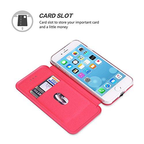Cover iPhone 8, Cover iPhone 7, SOWOKO Custodia Flip Caso Portafoglio in Pelle con Slot per schede e Supporto per Apple iPhone 7/ Cover iPhone 8, Blu Nero