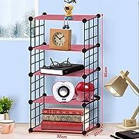 Cubo DIY Wire Grid Bookcase, Multi-Uso Modular Storage Shelving Rack, Organizador Abierto Closet Cabinet para Libros, Juguetes, Ropa, Herramientas, Capacidad máxima 20 kg por Cubo