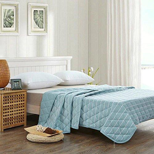 Sommer Quilt Baumwolle Klimaanlage Stricken Mode Streifen Cool Atmungsaktiv Waschbar (mehrere Farben Drei Größen Können Ausgewählt Werden),A-200*230 (Einfach Decke Muster Baby Stricken)