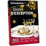 Wonderbox – Coffret cadeau Duo DÎNER D'EXCEPTION – 860 restaurants gastronomiques renommés, labellisés ou étoilés pour 2 personnes