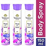 Yardley London Morning Dew Refreshing Deo for Women, 150ml (pack of 3)