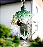 Lichtmühle auf kurzem Glasfuß Harmonie 80 mm grün