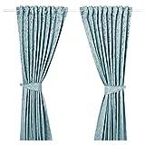 IKEA ASIA LISABRITT Vorhänge mit Raffhaltern 1 Paar blau