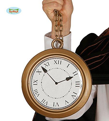 Guirca riesige Goldene Taschenuhr Uhr groß Märchen Karneval Fasching Party Hase Gold ca. 20 cm -