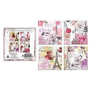 ALANNAHS ACCESSORIES Set Of 4 Glass Coasters 10X10cm Floral Paris Oriental Designs