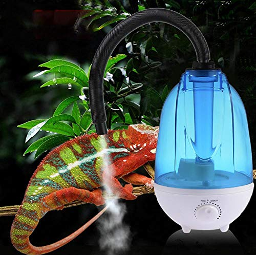 SHOH Reptilien-Luftbefeuchter, Super-Nebel-Luftbefeuchter, 4 L Wassertank, Geräuscharme, Kühle Nebelmaschine, Automatisches Flameout-Design, Für Eidechsen-Chamäleon-Schlangen-Terrarium, 10-35 W