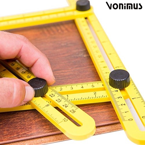 Angle izer Schablone Werkzeug, Vonimus Multi-Angle Messlineal, Lineal Vorlage Angleizer Allgemein für Bastler, Bauherren, Handwerker
