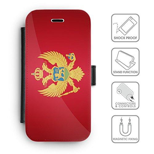Delle cellule Phone Card Slot cassa del raccoglitore di cuoio // V00001275 montenegro bandiera nazionale (Pronto Basamento Della Bandiera)