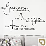 DESIGNSCAPE® Wandtattoo Das Gestern ist Geschichte... | Wandtattoo Lebensweisheit Spruch 60 x 40 cm (Breite x Höhe) gold DW801629-S-F26