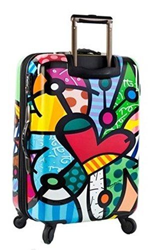 NUR HEUTE ... 50% SALE ... PREMIUM DESIGNER Hartschalen Koffer - Heys Künstler Britto Spring Love Trolley mit 4 Rollen Medium Butterfly Love