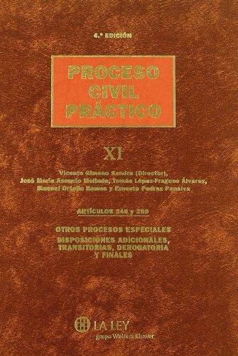 Tomo XI (Artículos 249 y 250 y disposiciones) Proceso civil práctico: 11 por Vicente Gimeno Sendra