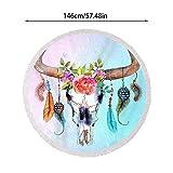 Serviette de Plage Ronde de 146 cm surdimensionné Style Mandala Couverture de...
