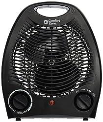 Comfort Zone Personal Heater Fan (black)