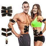 [neue Version 2018] Vinnare Muskel Toner, Bauchstraffung Gürtel ABS Training Gear Portable Fitness-Maschine Übung für Bauch/Arm/Bein-Unterstützung für Männer/Frauen