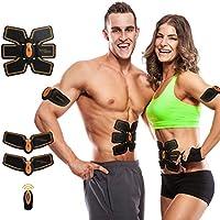 TZLong Vinnare Muscular Toner, Abdominal tonificación cinturón ABS Entrenamiento Equipo portátil Fitness máquina Ejercicio para Abdomen/Brazo/Pierna Apoyo para Hombres y Mujeres