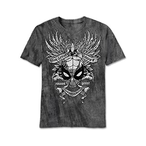 The Amazing Spider-Man Gritty Spider Charcoal River Wash T-Shirt | M