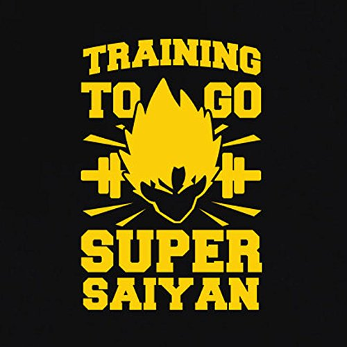 TEXLAB - Training to go Super Saiyan - Herren Langarm T-Shirt Schwarz