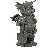 Dragón! Jardín! Dulce! Con la pala! - MystiCalls - GD-195 - Garden Figurine Decoration Gardener Gargoyle