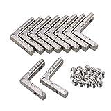 cnbtr Carbon Stahl 2020Aluminium Profil silber europäischen Eckverbinder Gelenk Halterung 10Stück