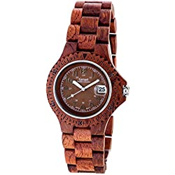 Tense Wood Watch Ladies Womens Compass Premium Clock L4100R BR - Natural Rosewood L4100R BR