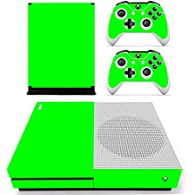 Morbuy Xbox One S Skin Vinly Pegatinas Protective Consola Sticker Decal + 2 Controlador Skins Set (Only Green)