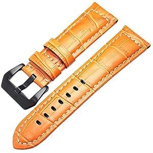 Echtes Leder uhrenarmbänder männer Dicke uhrenarmband Armband 22mm 24mm braun schwarz armbanduhren gürtelschnalle für panerai