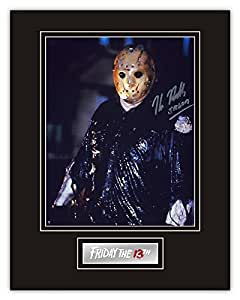 """SALE! 20% OFF RRP! Friday The 13th Kane Hodder (Jason Voorhees) Authentic Hand Signed 14""""x11"""" Mounted Display JV18"""