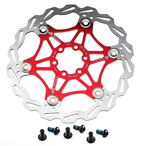 KX-YF Fahrradbremsscheibe Schwimmende Bremsscheibe 6 Schrauben Aluminiumlegierung Fahrrad Bremsscheibe for Rennrad Mountainbike BMX MTB 160mm 180mm 203mm Bremsbelagversteller Bremse Bremsscheibe