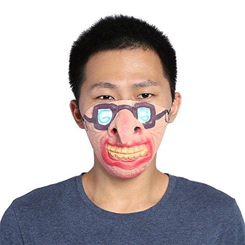 Gesicht lustige beängstigend atmungsaktive Latex Masken Cosplay Kostüm Halloween Party Streich Prop für Party Kleid U(#23) ()