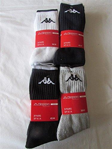 3 paia di calze corte kappa in spugna art k540 colore e misura a scelta (39/41, bianco)
