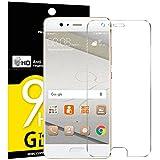 NEW'C Lot de 3, Verre Trempé pour Huawei P10, Film Protection écran - Anti Rayures - sans Bulles d'air -Ultra Résistant (0,33mm HD Ultra Transparent) Dureté 9H Glass
