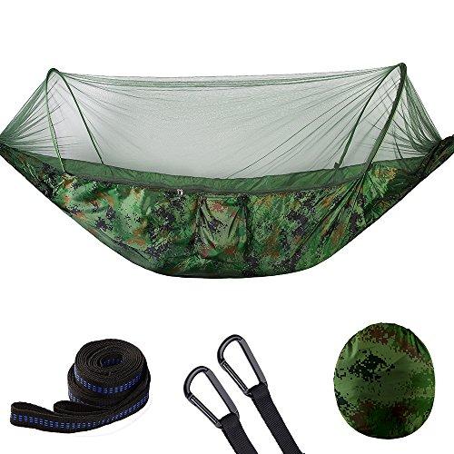 ZHYY Hamac Double de Camping avec moustiquaire | Tente de Camping, de randonnée et de Survie sans Insectes | Nylon indéchirable réversible, Durable, léger
