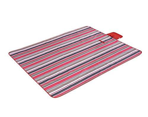 JFJL Outdoor & Picknickdecke Extra Große Sand Beweis und Wasserdichte Tragbare Strandmatte Für Camping Wandern Festivals 200 × 195 cm,Red