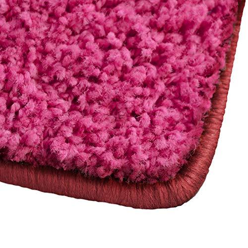 (Shaggy Teppich Barcelona   weicher Hochflor Teppich für Wohnzimmer, Schlafzimmer und Kinderzimmer   mit GUT-Siegel und Blauer Engel   verschiedene Größen   viele moderne Farben   100x150 cm   Pink)