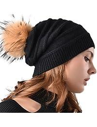 be9cda9040b Amazon.co.uk  FURTALK - Skullies   Beanies   Hats   Caps  Clothing