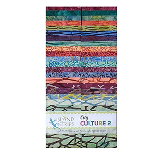 Jelly Roll Design (Bella Nonna Design Studio City Kultur II Streifen 402,5Streifen Jelly Roll Insel Batik)