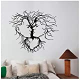 Donne Facce Wall Sticker Rimovibile Window Decal Albero Natura Art Sexy Girl Decorazioni Per La Casa Camera Da Letto Salone di Bellezza Decor 65 * 57 cm