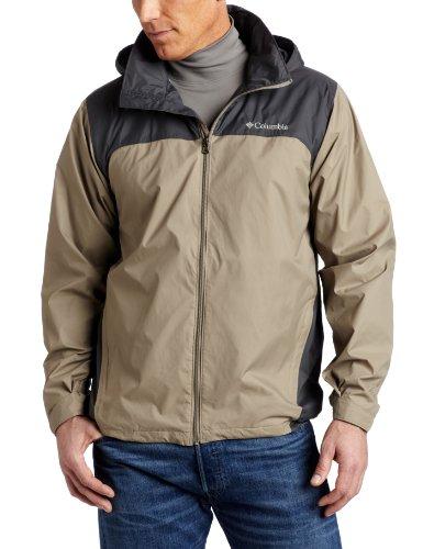Columbia Men's Big & Tall Glennaker Lake Packable Rain Jacket,Tusk/Grill,1X