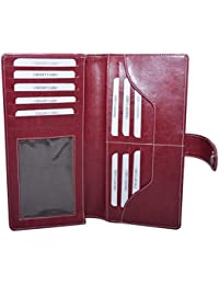 Knott Exclusive Cherry PU Leather Cheque Book Holder