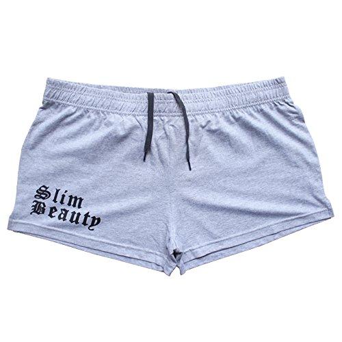 Alivebody Uomo Bodybuilding Pantaloncini corti Boxer Elastico 3 Inseam Grigio