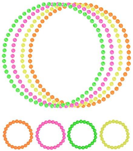 Halsketten Armband f/ür 80 Jahre Themen Party Ohrringe Blulu Damen 80 Jahre Kost/üm Zubeh/ör Set Spitzen Stirnband S T-Shirt mit Lippenprint