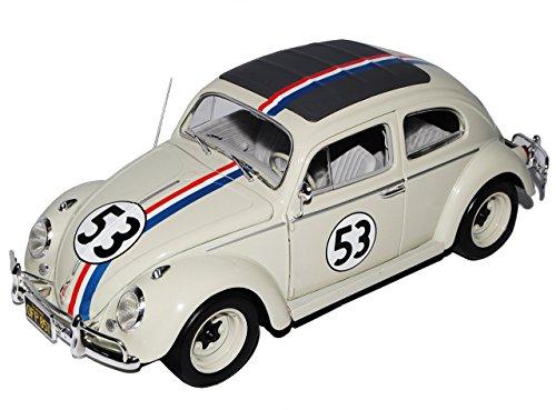 VW-Volkswagen-Kfer-Herbie-Nr-53-The-Love-Bug-1962-118-Mattel-Hot-Wheels-Modell-Auto-mit-oder-ohne-individiuellem-Wunschkennzeichen
