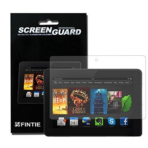 3 x Fintie Amazon Kindle Fire HDX 7 Ultra Klar Schutzfolie - High Definition Kristallklar Displayschutzfolie Premium Screen Protector (3 Stück) (Screen Protector Hdx 7)