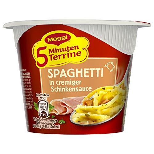 Preisvergleich Produktbild Maggi 5 Minuten Terrine Spaghetti in cremiger Schinkensauce,  64 g