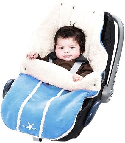 Wallaboo Fußsack, Universal für Babyschale, Autositz, z.B. für Maxi-Cosi, Römer, für Kinderwagen, Buggy oder Babybett, Farbe: