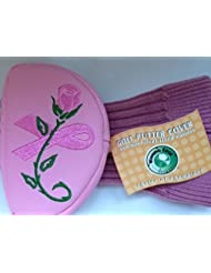 BREAST CANCER ROSE MALLET STYLE PUTTER COVER BY WINNING EDGE.