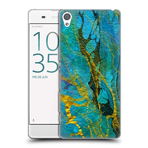 official-haroulita-yellow-teal-marble-hard-back-case-for-sony-xperia-xa-xa-dual