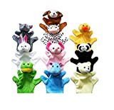 niceeshop(TM) Cute Animal Hand Puppets Toys Set for Kids Children, Set of 10
