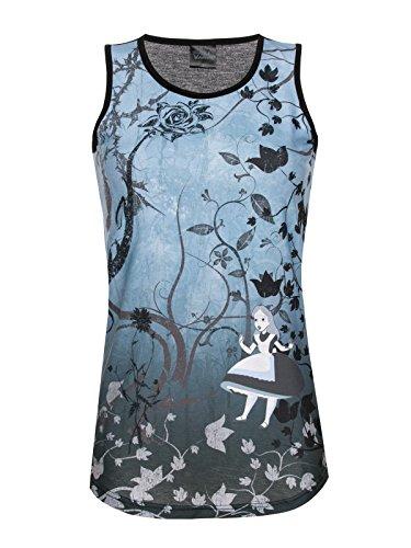 Alice In Wonderland Gothic Top donna multicolore L